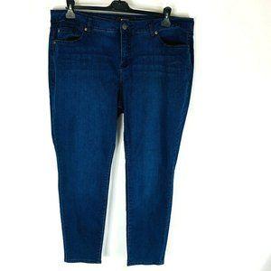 Torrid Womans Skinny Jeans Plus Size 20 Blue Stret